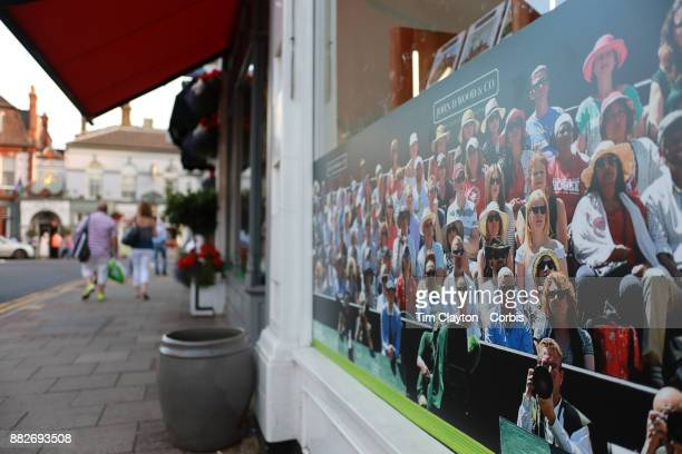 Scenes in Wimbledon Village as local shops restaurants businesses and residents get into the spirit of the event during the Wimbledon Lawn Tennis...