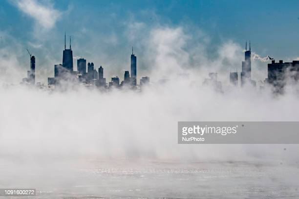 Scenes of a frozen Chicago are seen on January 30 2019 in Chicago Illinois The record breaking temperatures are forecasted to reach below 25 degrees...