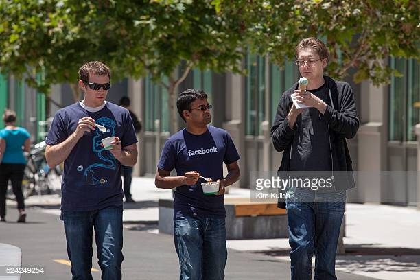 "Scenes of daily work and life at Facebook, Inc. USA Headquarters in Menlo Park, California. Facebook employees and visitors walk through ""Hacker..."