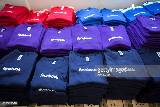 Scenes of daily work and life at Facebook Inc USA Headquarters in Menlo Park California Facebook merchandise in the company store on campus