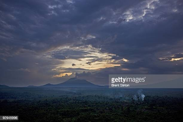 Scenes of part of the Southern sector of Virunga National Park photographed at CNDP rebel controlled Rumangabo the ICCN Congolese Conservation...