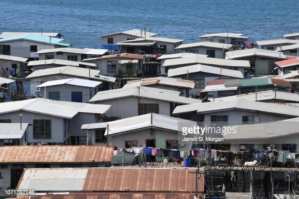 Scenes of people and homes in the stilt house village of Hanuabada on November 17 2018 in Port Moresby Papua New Guinea Hundreds of locals live in...