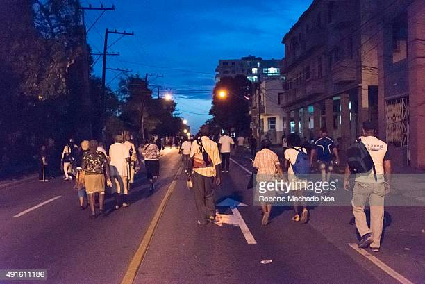 Scenes of Pope Francis to Havana specifically the historic Catholic Mass held in the Revolution Square People walking to the Revolution Square to...