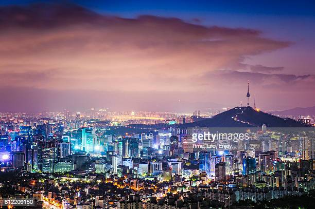scenes of seoul at ansan - south korea stock pictures, royalty-free photos & images