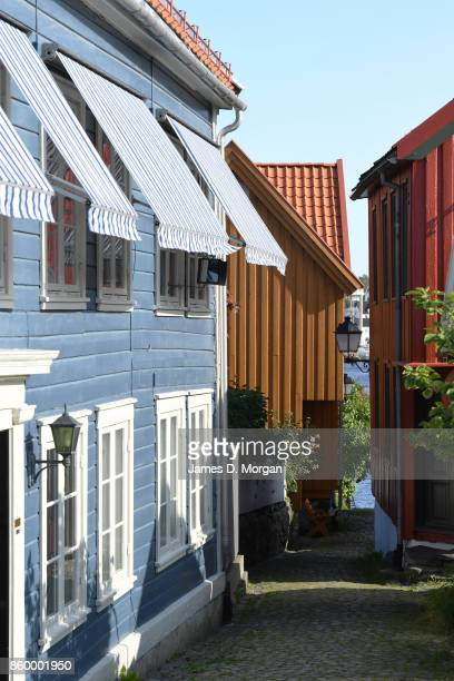 Scenes of Sogne harbour streets in Southern Norway in Norway in August 22nd 2017