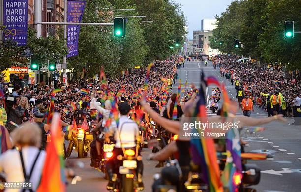 Scenes of Sydney's Gay and Lesbian Mardi Gras Celebration on March 2 2013 in Sydney Australia