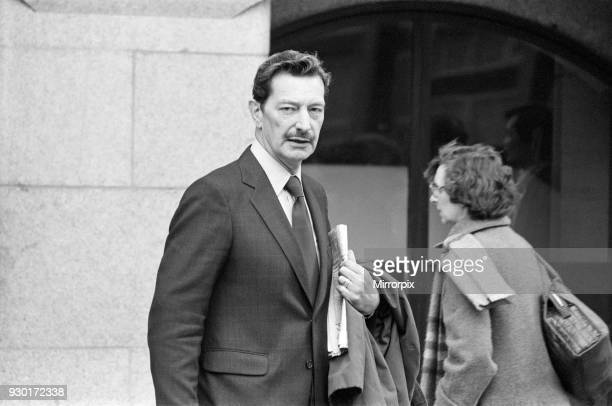Scenes outside the Old Bailey during the first day of the Peter Sutcliffe, Yorkshire Ripper, trial. Pictured, Mr David Leach, father of one of the...