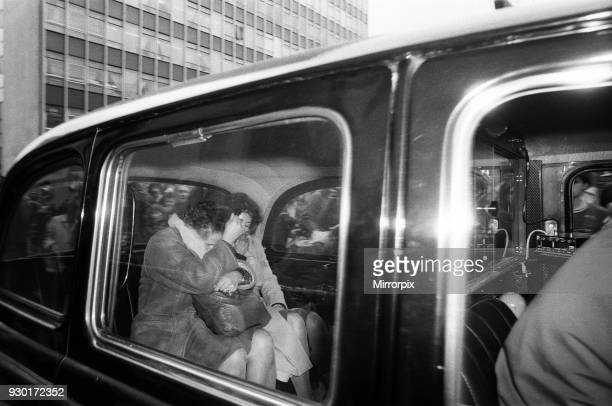 Scenes outside the Old Bailey during the trial of Peter Sutcliffe, the Yorkshire Ripper. Sonia Sutcliffe and her mother Maria Szurma leaving court,...