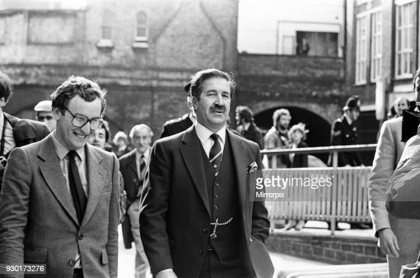 Scenes outside the Old Bailey during the trial of Peter Sutcliffe, the Yorkshire Ripper. Assistant Chief Constable Jim Hobson, 22nd May 1981.