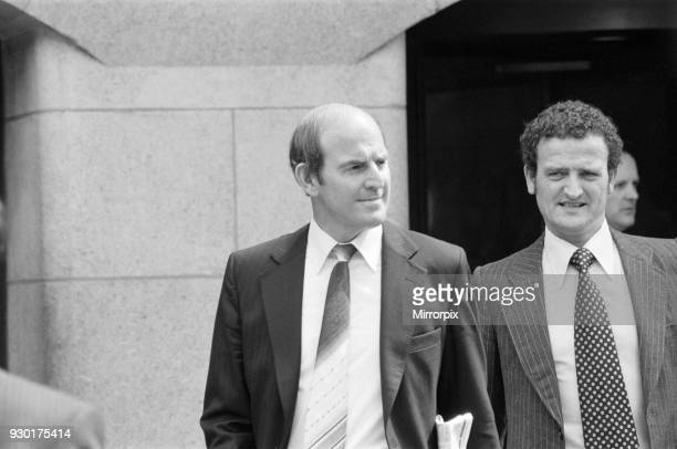 Scenes outside the Old Bailey during the trial of Peter Sutcliffe, the Yorkshire Ripper. Pictured, Detective Sergeant Peter Smith , 8th May 1981.