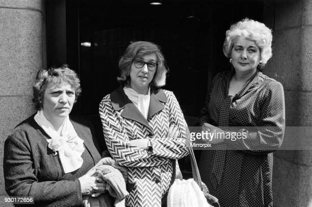 Scenes outside the Old Bailey on the last day of the trial of Peter Sutcliffe, the Yorkshire Ripper, 24th May 1981.