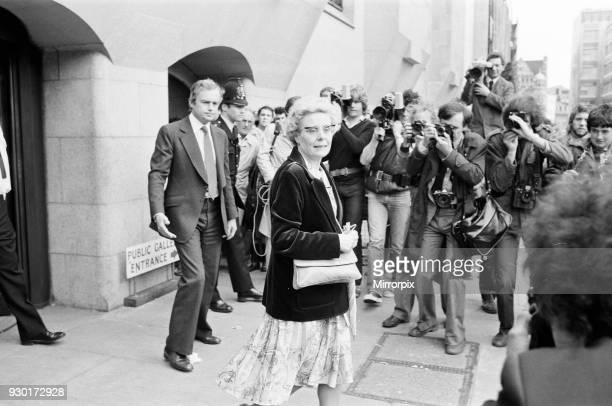 Scenes outside the Old Bailey on the last day of the trial of Peter Sutcliffe, the Yorkshire Ripper. Mrs Beryl Leach, mother of victim Barbara Leach...