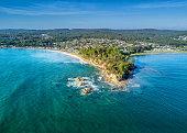 Scenic aerial views of Batemans Bay, Australia