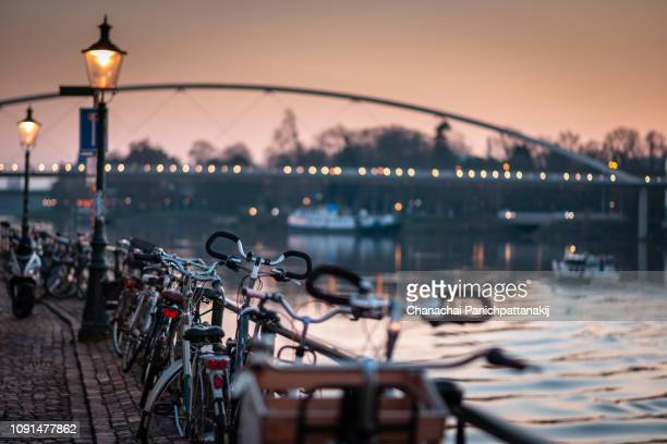 scenic along meuse river in maastricht, netherlands - マーストリヒト ストックフォトと画像