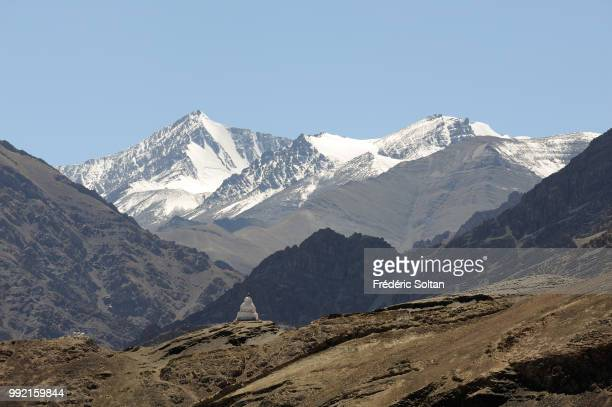 Scenic and magnificent landscape in Ladakh Jammu and Kashmir on July 12 India