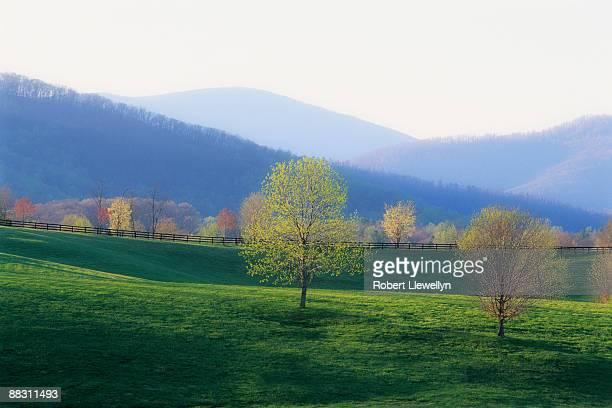 Scenic autumn landscape in Virginia