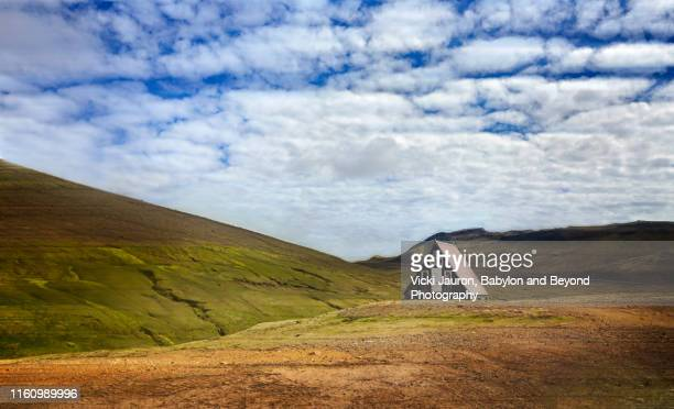 scenic budir landscape and hut in snaefellsness, iceland - shack stock pictures, royalty-free photos & images