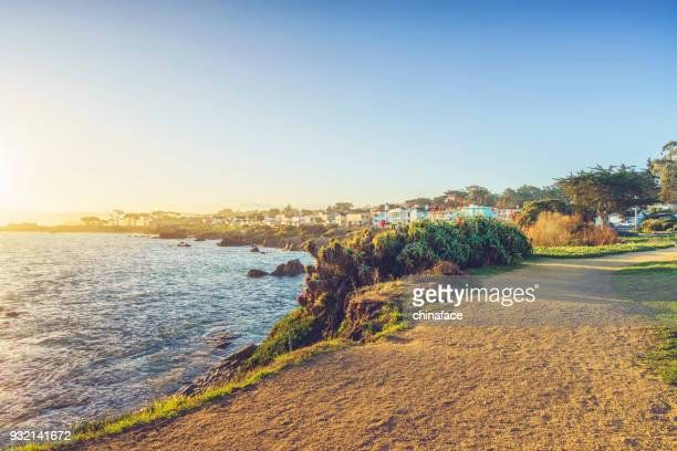 scenic carmel beach of carmel-by-the-sea,california - monterrey stock pictures, royalty-free photos & images