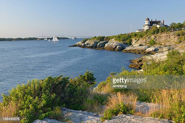 scenic coastline of newport - newport rhode island stock pictures, royalty-free photos & images