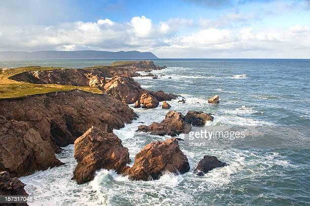 scenic coastline - cape breton island stock pictures, royalty-free photos & images