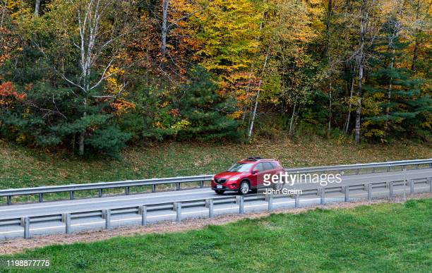 Scenic drive with autumn color