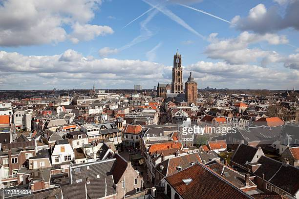 scenic dutch cityscape (xxxl) - utrecht stock pictures, royalty-free photos & images