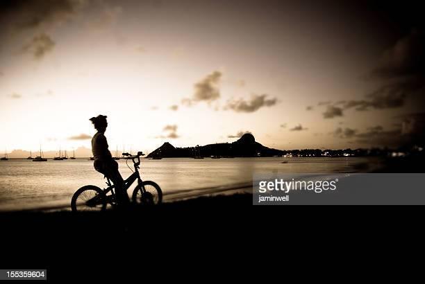 scenic evening silhouette