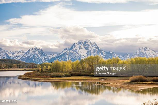 Scenic Grand Tetons National Park Mountain Nature Landscape in Spring