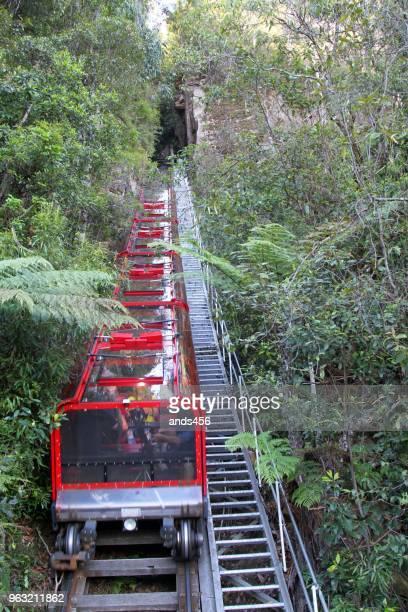 scenic incline railway at blue mountains australia - katoomba stock pictures, royalty-free photos & images