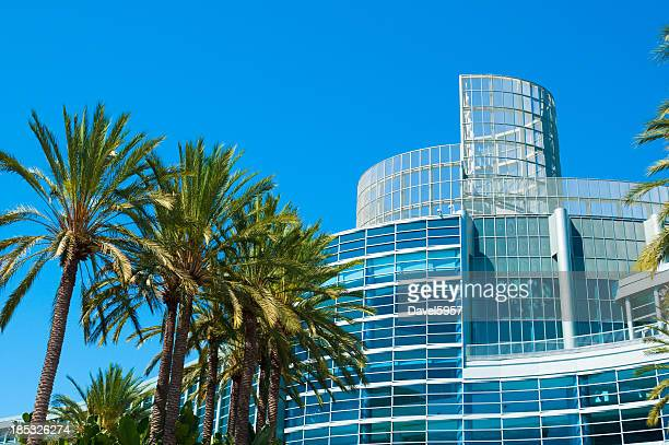 scenic landscape of anaheim convention center - california stock pictures, royalty-free photos & images