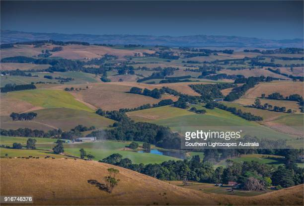 Scenic lookout at Mount Nicoll, Fish Creek, South Gippsland.