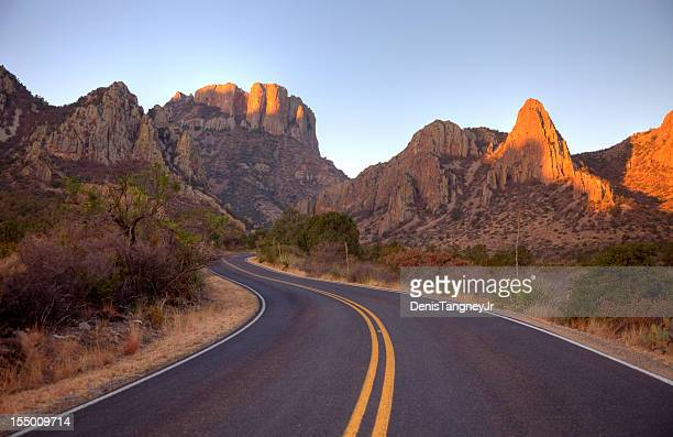 scenic mountain road in texas near big bend national park - texas stock pictures, royalty-free photos & images
