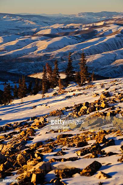 scenic mountain vista at sunset - beaver creek colorado stock pictures, royalty-free photos & images