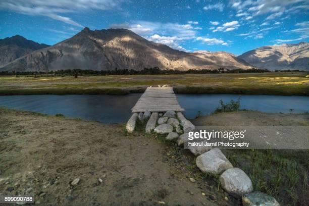 Scenic night view at Nubra Valley, Ladakh, North India