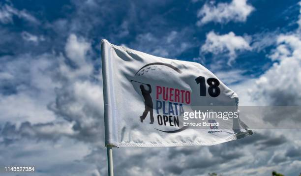 Scenic of pin flag prior to the PGA TOUR Latinoamerica Puerto Plata Open at Playa Dorada Golf Course on April 30 2019 in Puerto Plata Dominican...