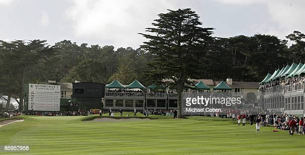 Scenic of the 18th green during the fourth round of the ATT Pebble Beach National ProAm on the Pebble Beach Golf Course on February 11 2007
