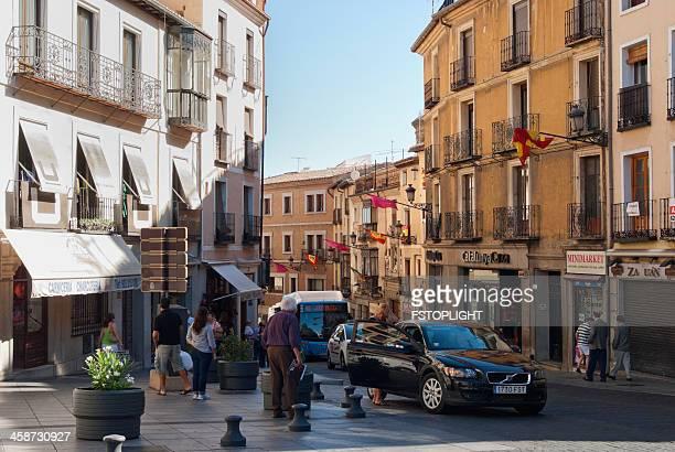 scenic of toledo city street - fstoplight stock photos and pictures