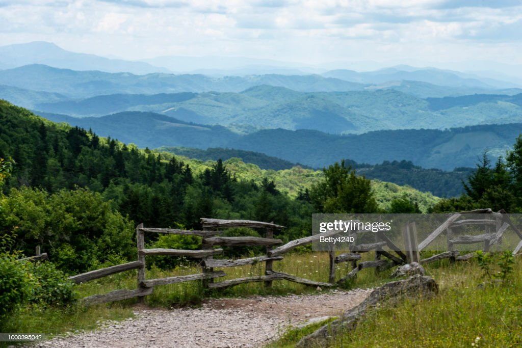 Scenic on Grayson Highlands State Park. : Stock Photo