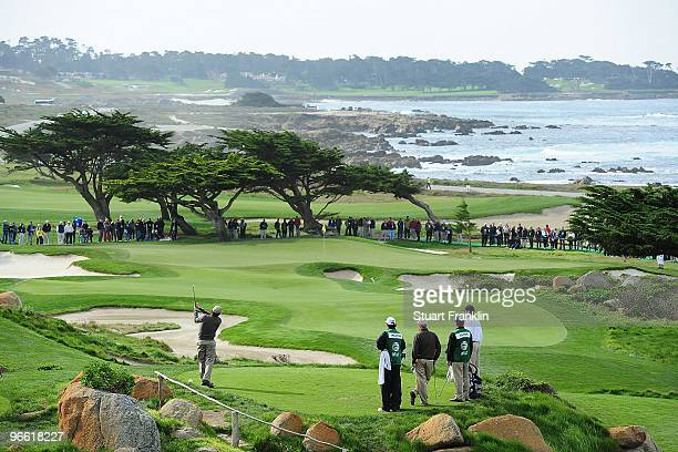 A scenic on the 11th tee during round one of the ATT Pebble Beach National ProAm at Monterey Peninsula Country Club Shore Course on February 11 2010...