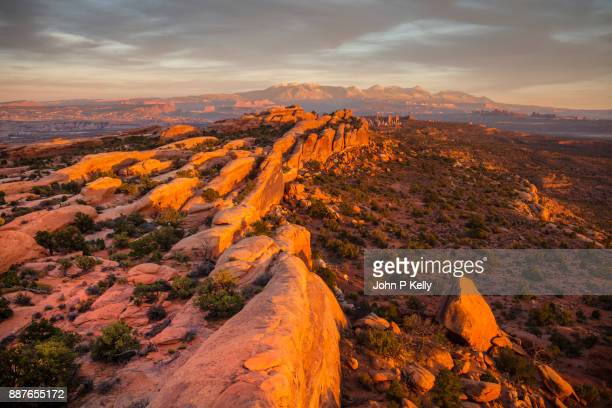 Scenic overlook of Arches National Park in Utah