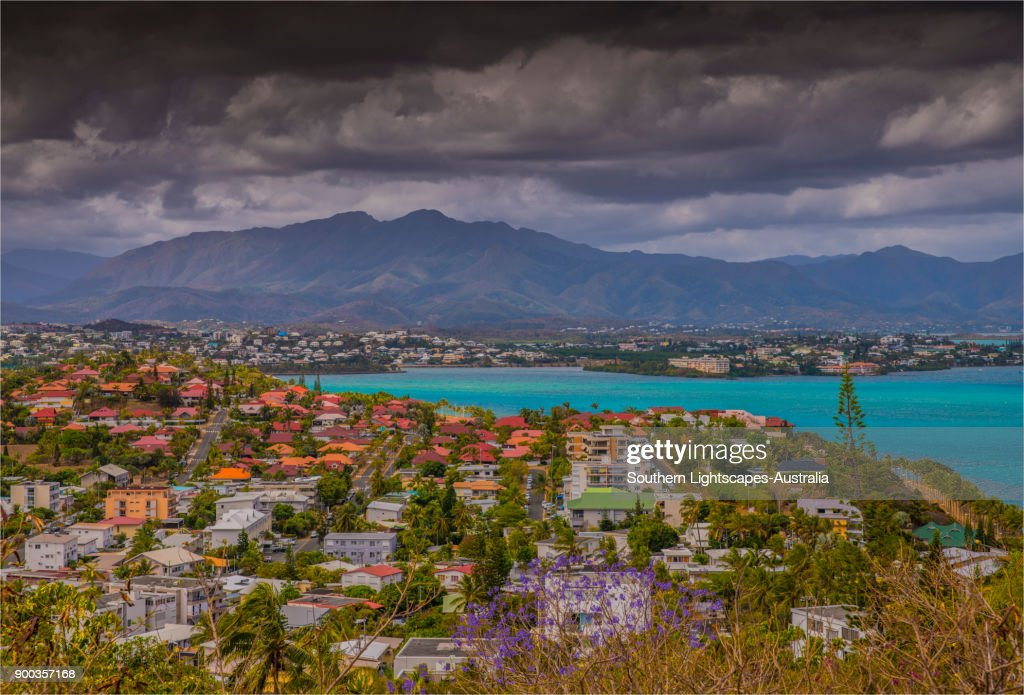 A scenic overview of the Bay De Magenta, Noumea, New Caledonia, South Pacific. : Stock Photo