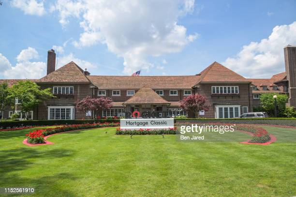 Scenic photo of the clubhouse during the second round of the Rocket Mortgage Classic at Detroit Golf Club on June 28, 2019 in Detroit, Michigan.
