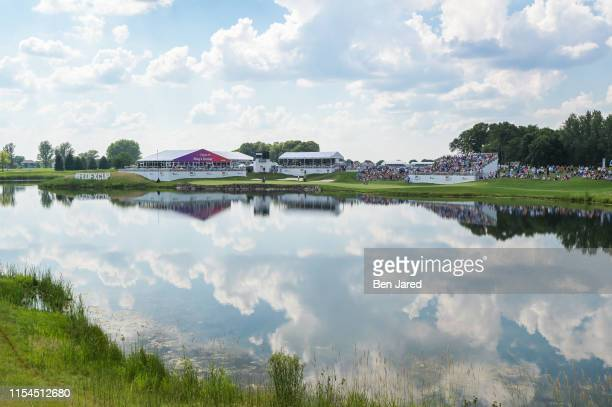 Scenic photo of the seventeenth hole during the final round of the 3M Open at TPC Twin Cities on July 7 2019 in Blaine Minnesota