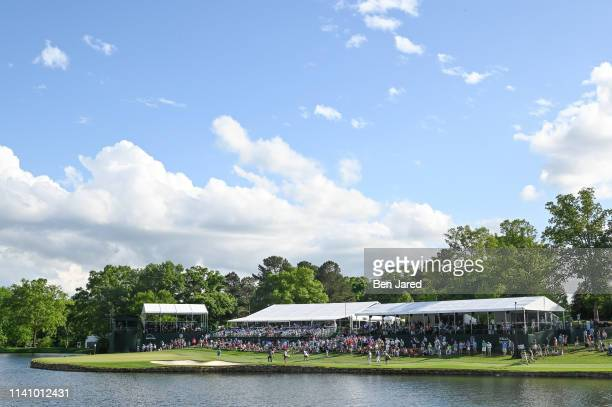 Scenic photo of the seventeenth hole during the second round of the Wells Fargo Championship at Quail Hollow Club on May 3, 2019 in Charlotte, North...