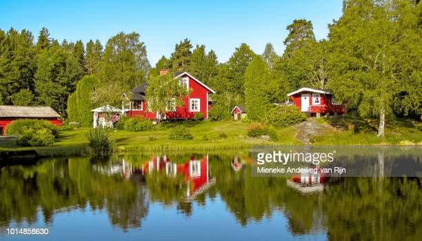 Scenic reflections at Gla Forest Nature Reserve, Sweden, Scandinavia