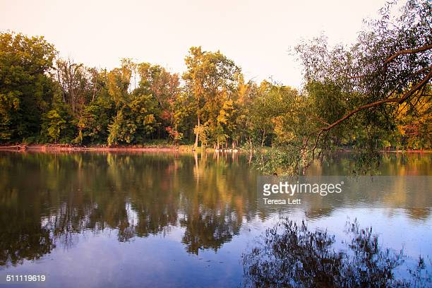 Scenic river scene with reflections
