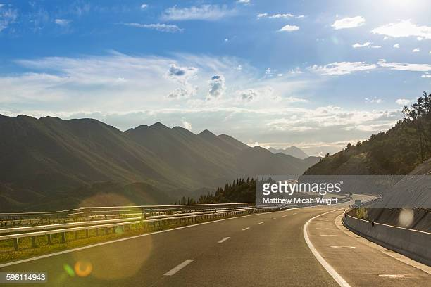 a scenic road crossing through croatia - mountain road stock pictures, royalty-free photos & images