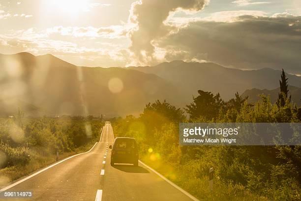 A scenic road crossing through Croatia