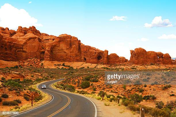 Scenic Road in Arches National Park Utah