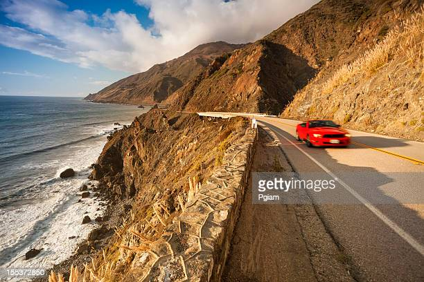 Scenic road on the Big Sur, Coastline and sea California